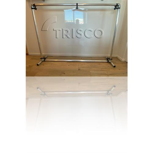 Trisco Stay Safe Bureauscherm 34 mm raamfolie 115x155cm.
